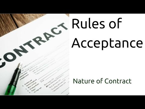 rules of offer and acceptance Offer and acceptance online  first, the contracting parties must agree on the terms of the contract, through the issue and acceptance of a contractual offer.