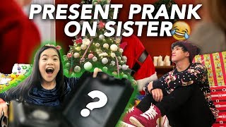 CHRISTMAS PRESENT PRANK ON SISTER | Ranz and Niana