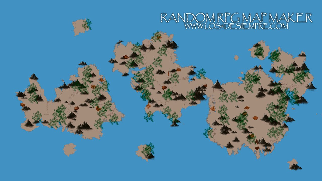 Random RPG map maker / creator