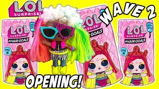 LOL SURPRISE WAVE 2 Hairgoals LOL Dolls Unboxed NEW BOY LOL Doll W/ Hair LOL Surprise Dolls Unboxing Video