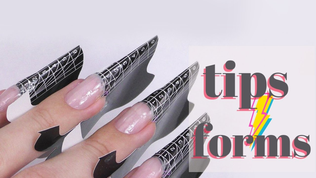 Nail Tips VS Nail Forms   Are Tips or Forms better?