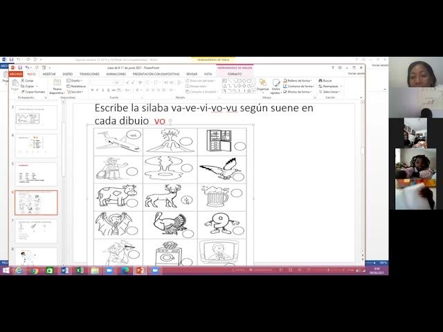 9/junio/2021.castellano.primero.semana  17.retroalimentacion de fonema v