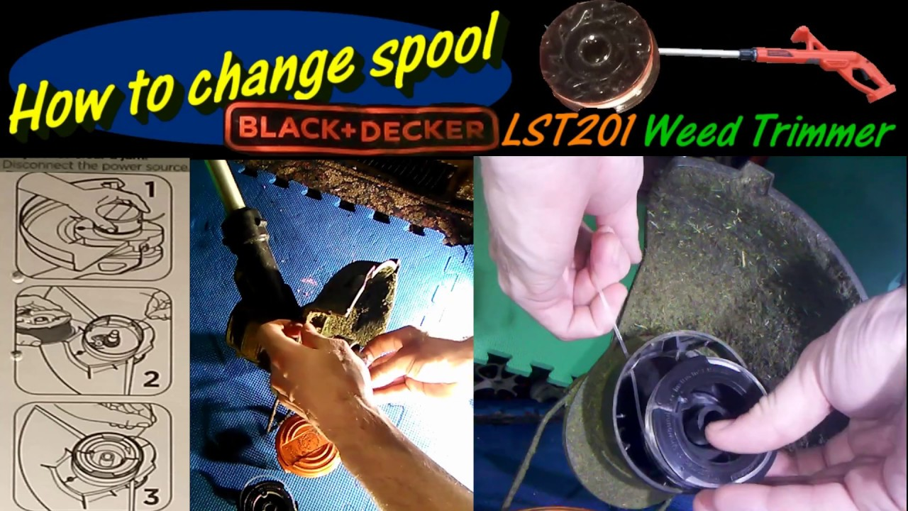 How To Change Spool Black Decker Lst201 Weed Trimmer Youtube