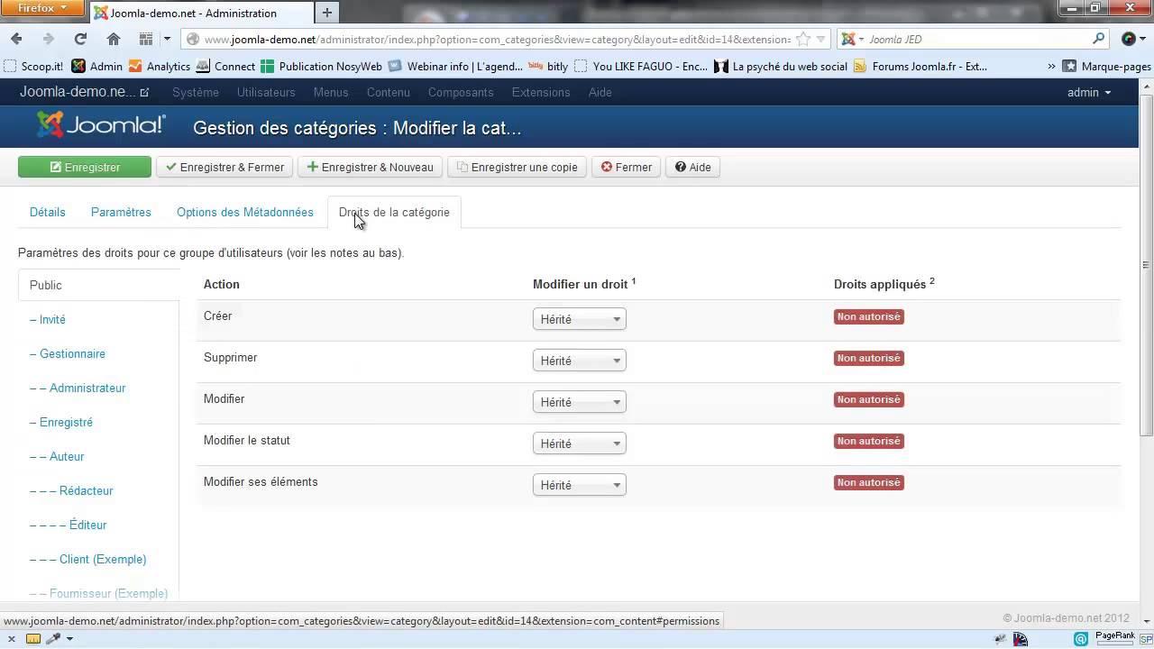 Joomla 3 - La création des catégories d'articles