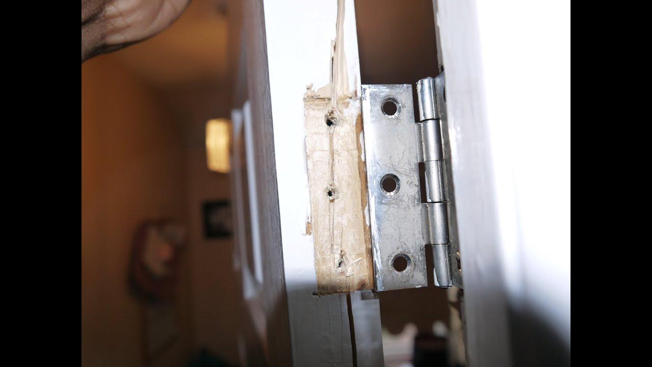 How to fix broken door hinge - YouTube