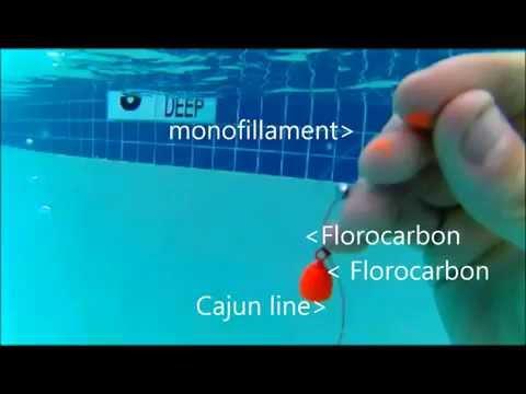 5FT Visability Test Of Cajun Line Vs Monofillament Vs Fluorocarbon