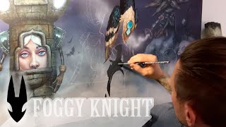 """Foggy Knight"" / Time-lapse Painting / Acrylic Painting / Demonstration / Art Inspiration"