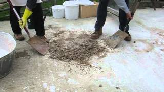 Making a lime mortar hot mix using Quicklime