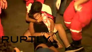 RAW: Police charge at anti-govt protesters in Beirut, several injured