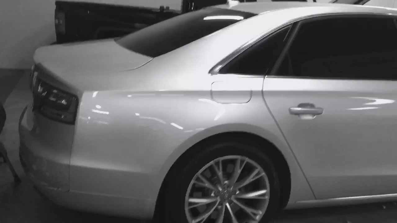 Audi A8 Chrome Delete And Roof Wrap Youtube