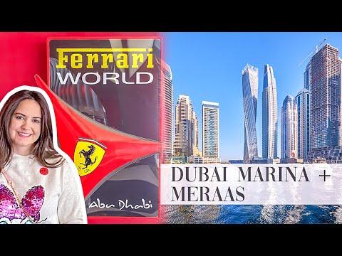 This is What FERRARI WORLD looks like Inside + Dubai Marina & Meraas City Walk 😱
