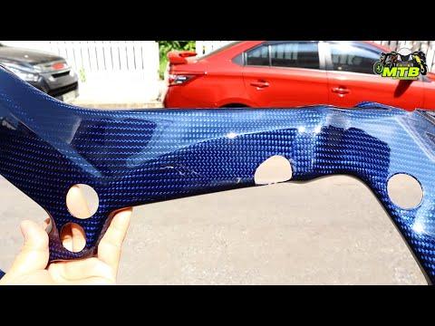 สวยมาก!! ครอบเฟรมคาร์บอนสีน้ำเงิน S1000RR 2019  Blue Carbon Frame Cover