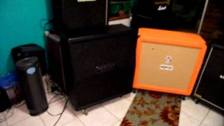 Guitar 4x12 Cab SHOOTOUT!! Mesa-Marshall-Orange-H&k (Cleans Part 1)