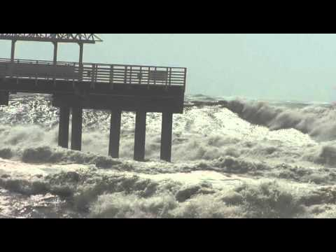 Cotton Bayou Beach - Tropical Storm Isaac.avi