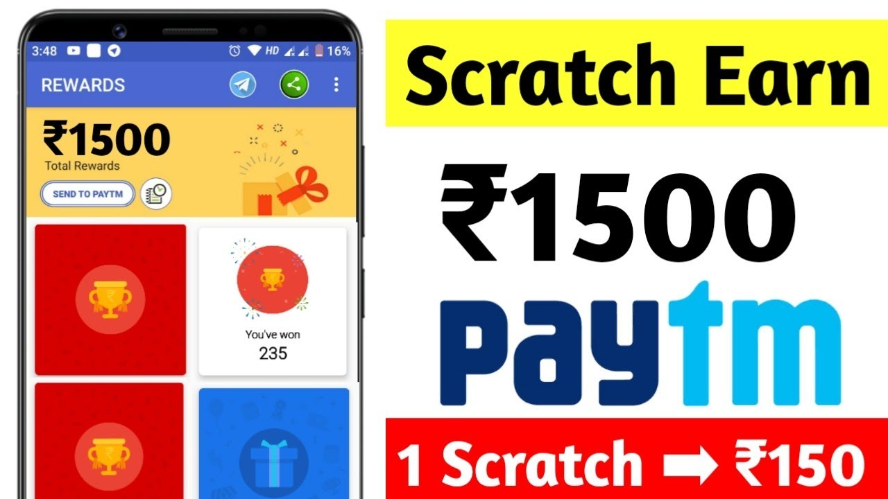 Scratch Earn ₹1500 Paytm Cash In Just 5 Minutes | New Earning App 2019 | Best Earning App 2019