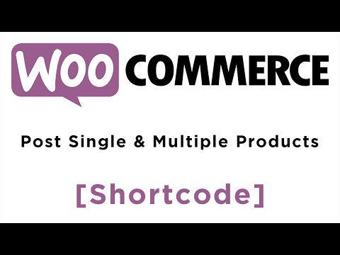 Woo Commerce - Product Shortcode