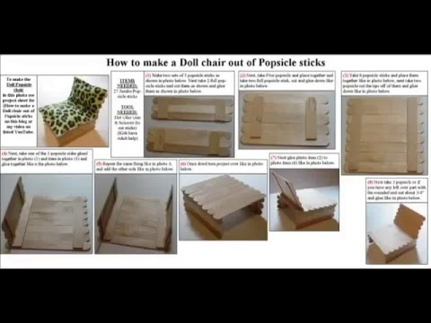Easy Arts and Crafts: Doll Popsicle stick chair - YouTube