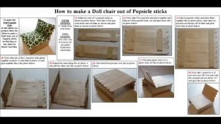 Easy Arts And Crafts: Doll Popsicle Stick Chair