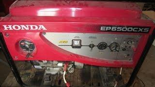 Обзор бензинового генератора Honda EP 6500 CXS