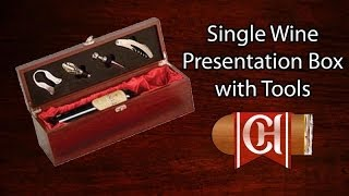 Single Wine Bottle Presentation Box With Tools