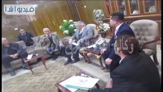 بالفيديو  لقاء محافظ شمال سيناء مع المستثمر اليابانى.