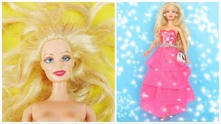 CLEVER BARBIE HACKS AND CRAFTS ~ DIY DOLL TRANSFORMATIONS; Barbie Hairstyles, Clothes, Shoes and Bag