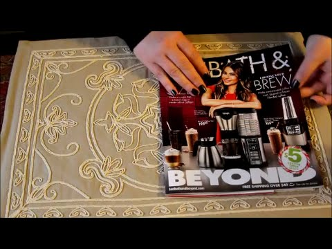 ASMR Page Turning ~ Bed Bath & Beyond Magazine ~ Soft Spoken