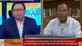 BT: Inanunsyo ni VP Binay na ceasefire sa pagitan ng gobyerno at MNLF sa Zamboanga, napurnada