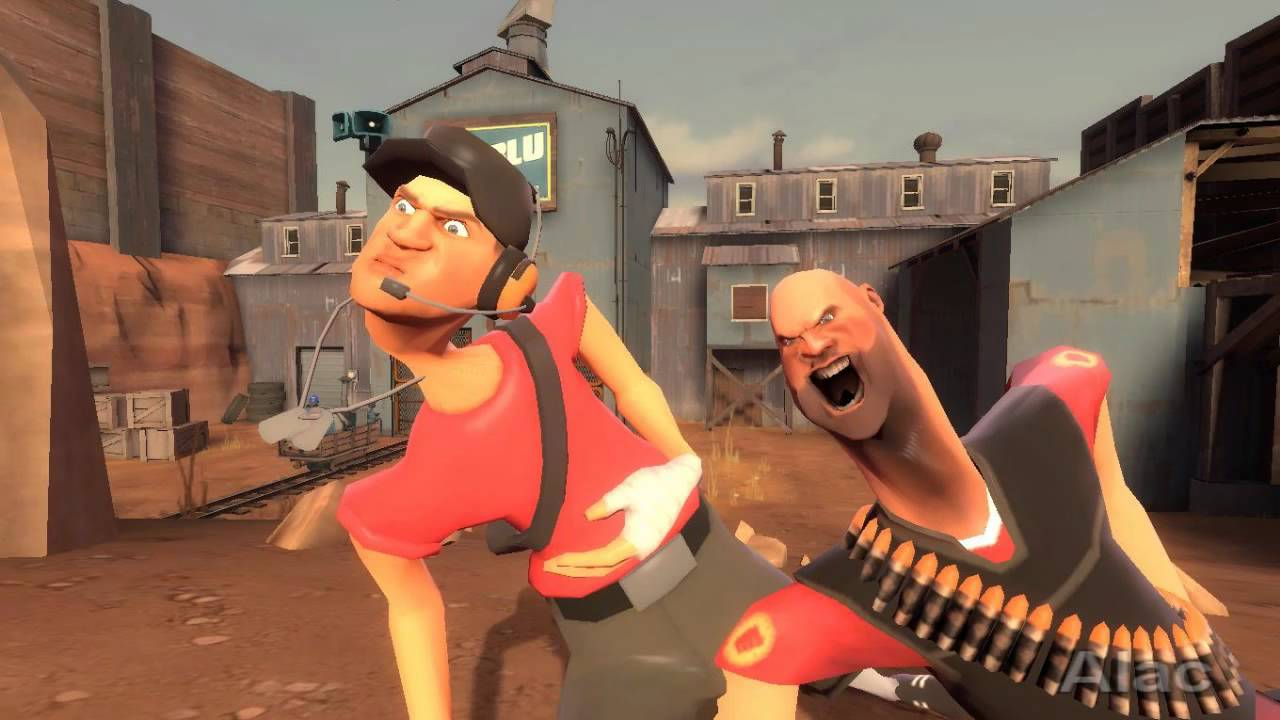 Angry Heavy And Scout Thinking They Are Birds