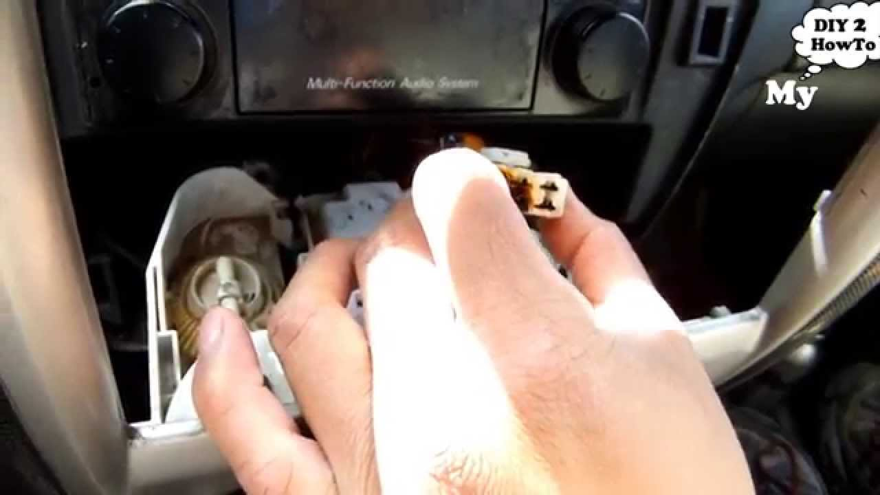 Behind A Broken Ac Heater Fan Switch Youtube
