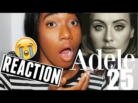 Adele 25 Album REACTION!!! | jovanaboringlife