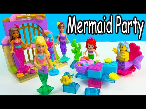 Barbie Mermaid Party At Disney's Ariel House Lego Mega Bloks Friends Playset Cookieswirlc