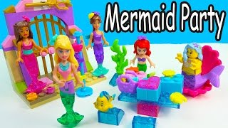 barbie mermaid party at disney s ariel house lego mega bloks friends playset cookieswirlc