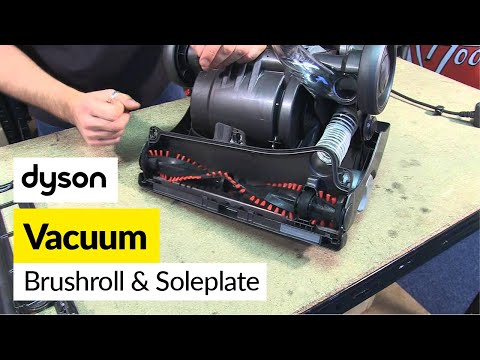 How to replace a  brush roll and sole plate - Dyson DC33