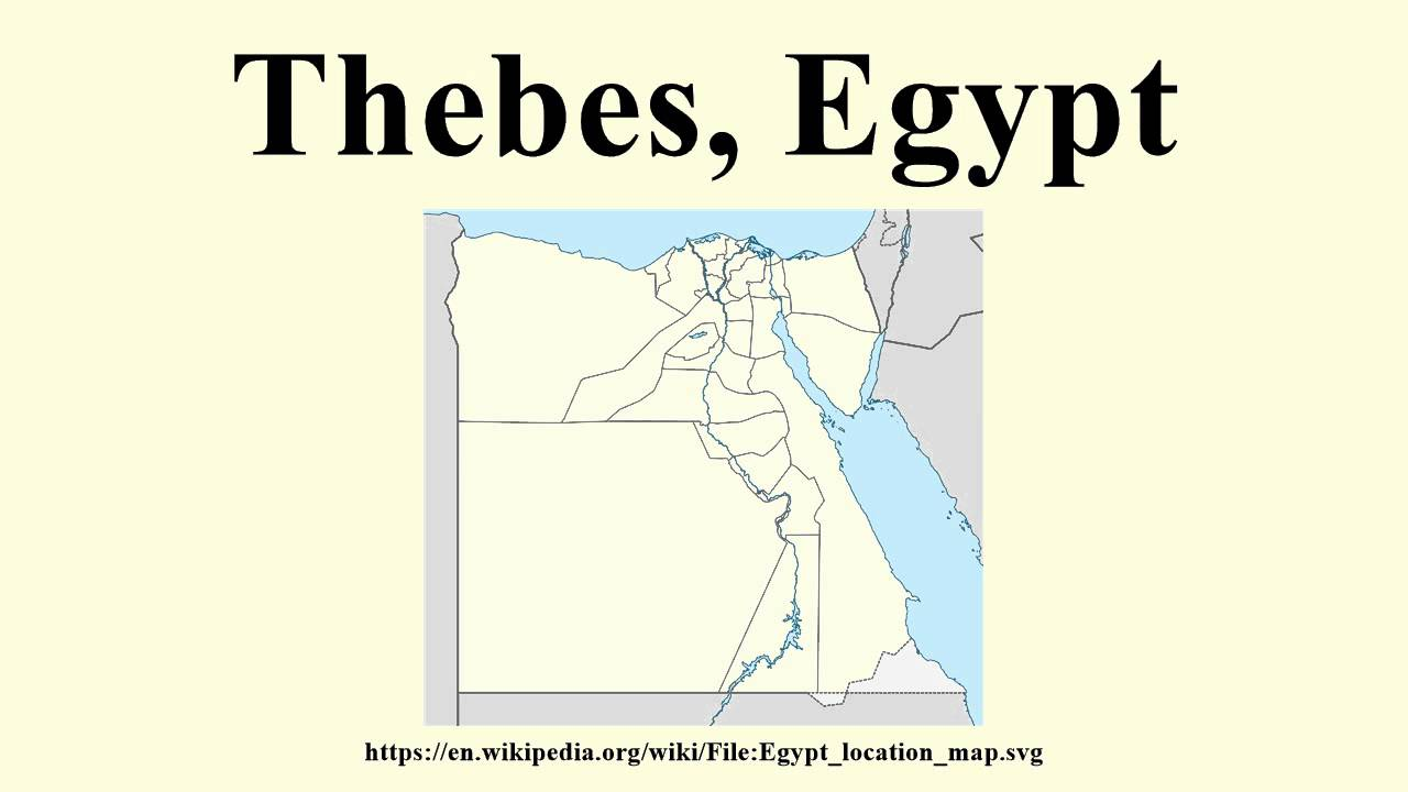 Thebes Egypt YouTube - Map of egypt thebes