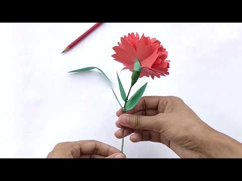How To Make Flowers With Paper   Carnation Flowers