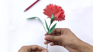 How To Make Flowers With Paper | Carnation Flowers