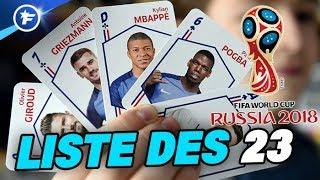 OFFICIEL : La liste des 23 Bleus pour la Coupe du Monde 2018