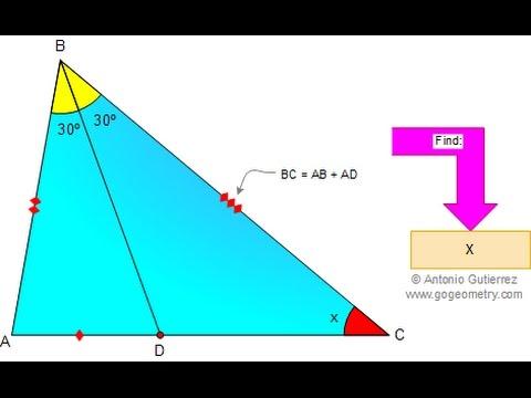 Problema 15 gogeometry tri ngulo 80 60 40 congruencias y for Cocinar a 60 grados