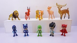 Pj Masks Wrong Heads Learn Colors And Learn Name Animals | Learning Colours For Kids Videos