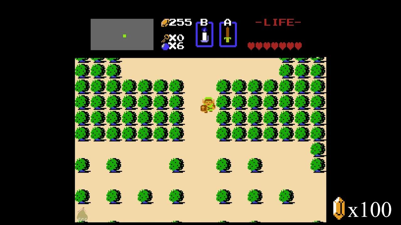 All Secret Rupee Locations (First Quest) - The Legend of Zelda First Quest  100% Walkthrough