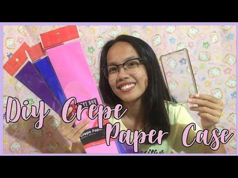 DIY PHONE CASE USING CREPE PAPER (Philippines) | Jam Rouello