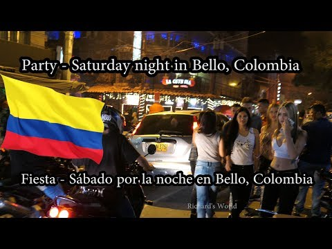 Bello Colombia Night Life Party - Fiesta En La Noche - Medellin