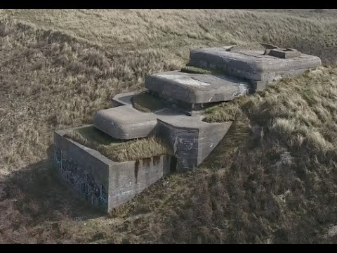 Drone DJI Phantom 4 - Nazi Atlantic Wall Netherlands