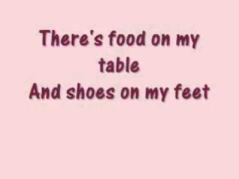 There's food on my table