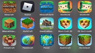 Download Minecraft,Roblox,Minecraft Earth,Mini World Block Art,Primal Craft,Planet,Block Craft 3D