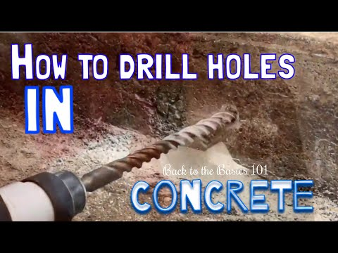 Drilling holes in concrete, simple,,,w/the right tools!