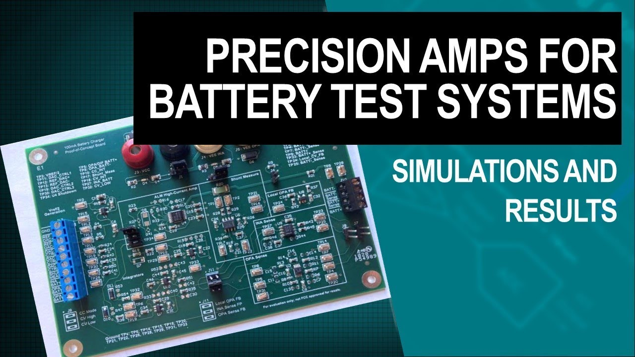 Precision amplifiers for battery test systems - Simulations and results