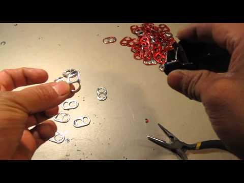 1er tutorial como hacer un lampara con anillas de refresco - Como hacer una lampara ...