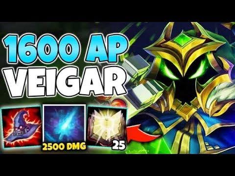 OMG! I HIT 1600 AP ON VEIGAR AND ALL MY ABILITIES ONE SHOT! - League Of Legends